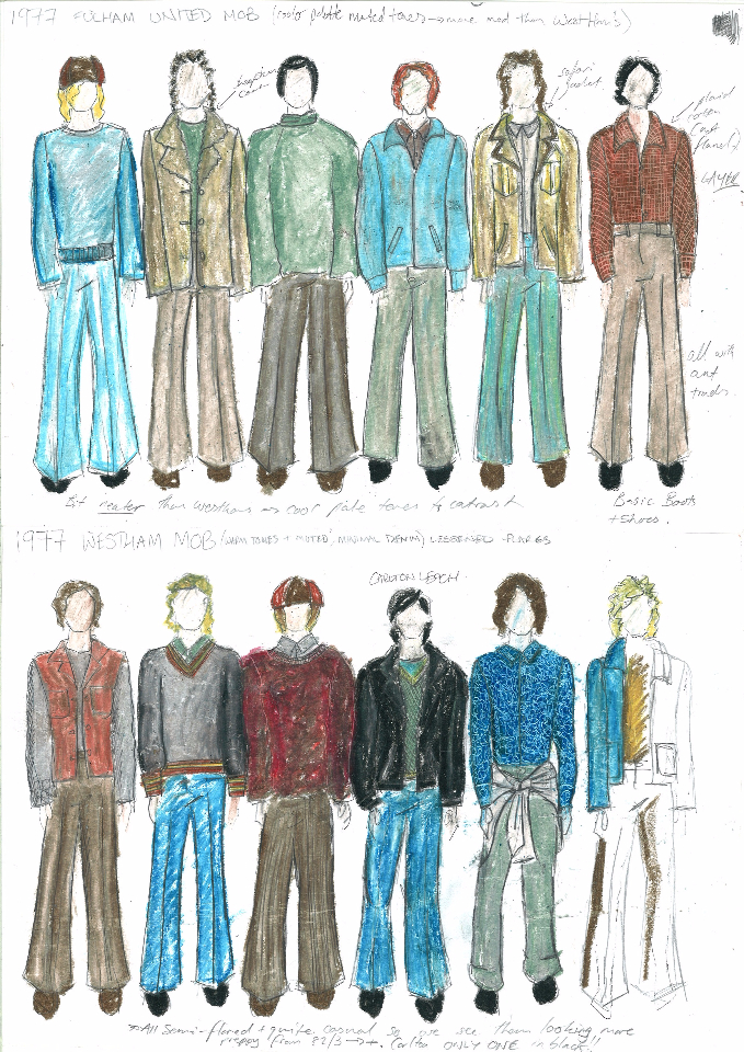 1977 Crowd Costume Design