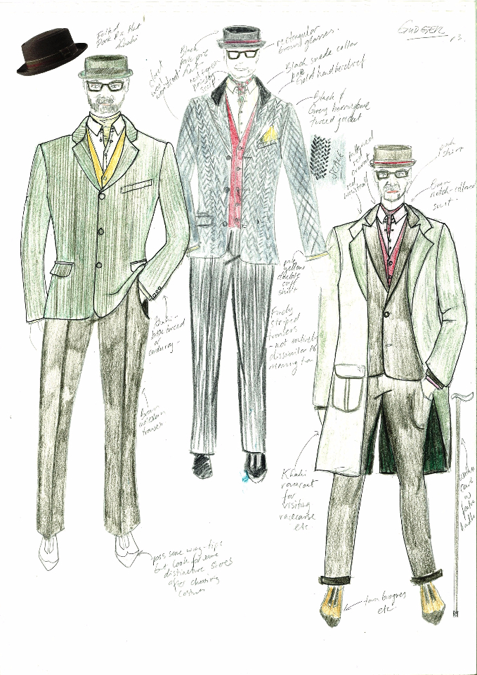 1985 Drama - Costume Designs for Bob Hoskins