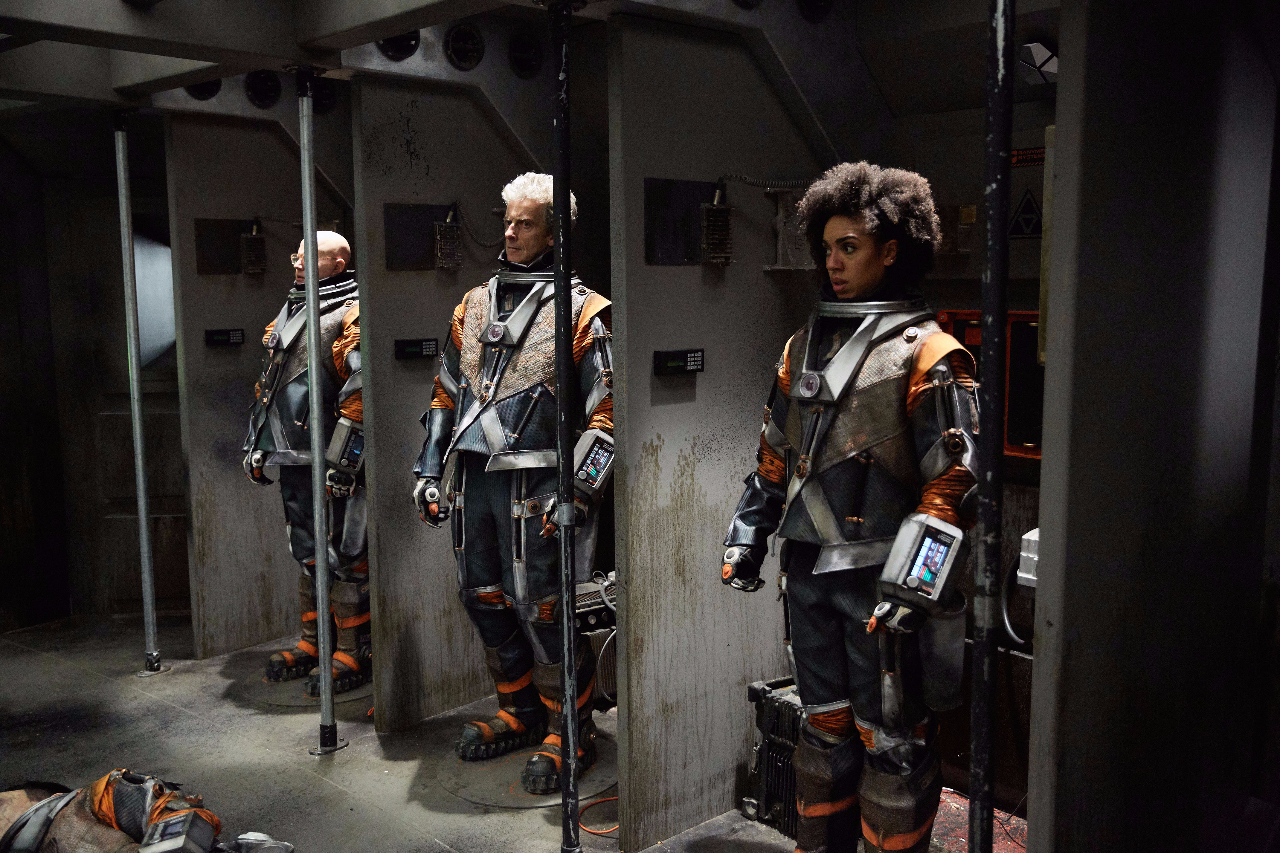 Cast wearing 3 of 11 custom built spacesuits