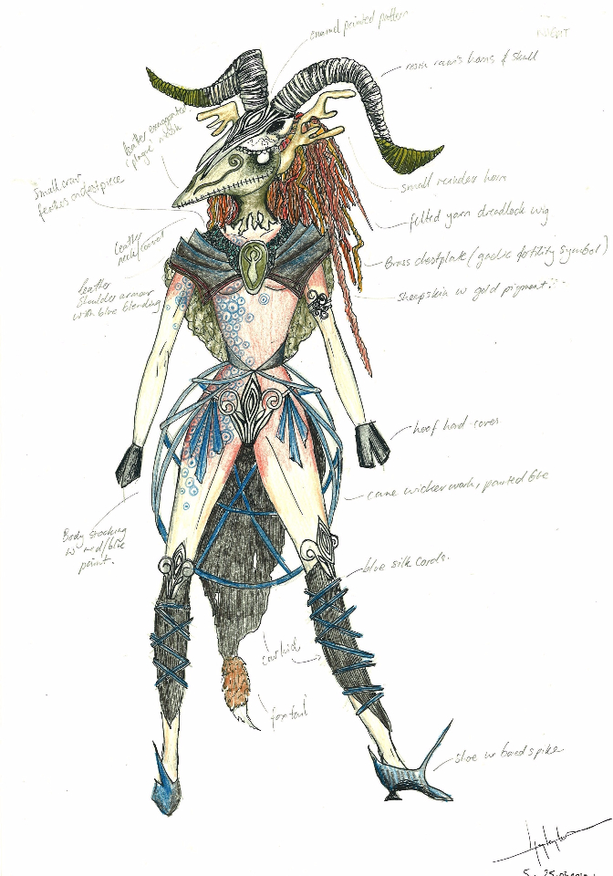 Costume Design - The Goat Demon