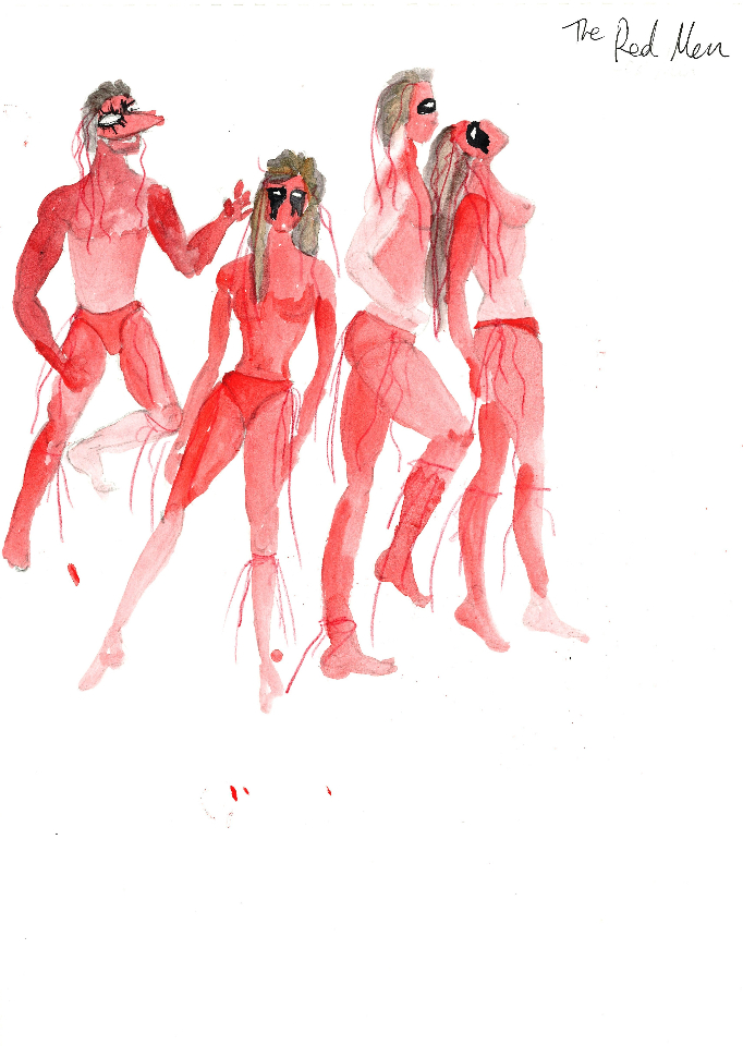 Costume Design - The Red Men