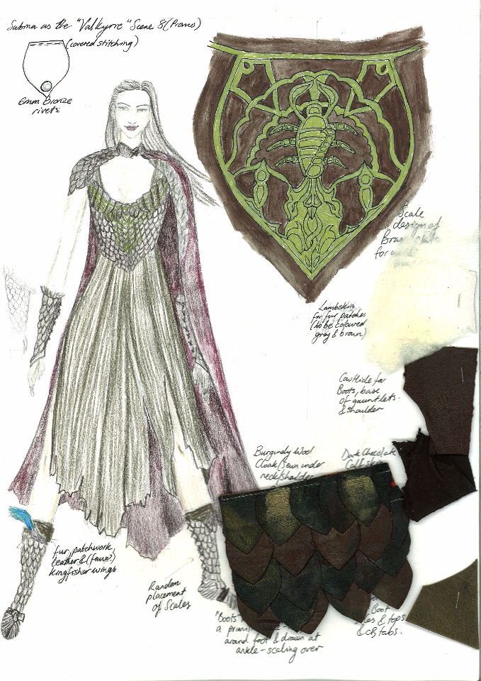Costume Design Illustration - Sabina the Valkyrie