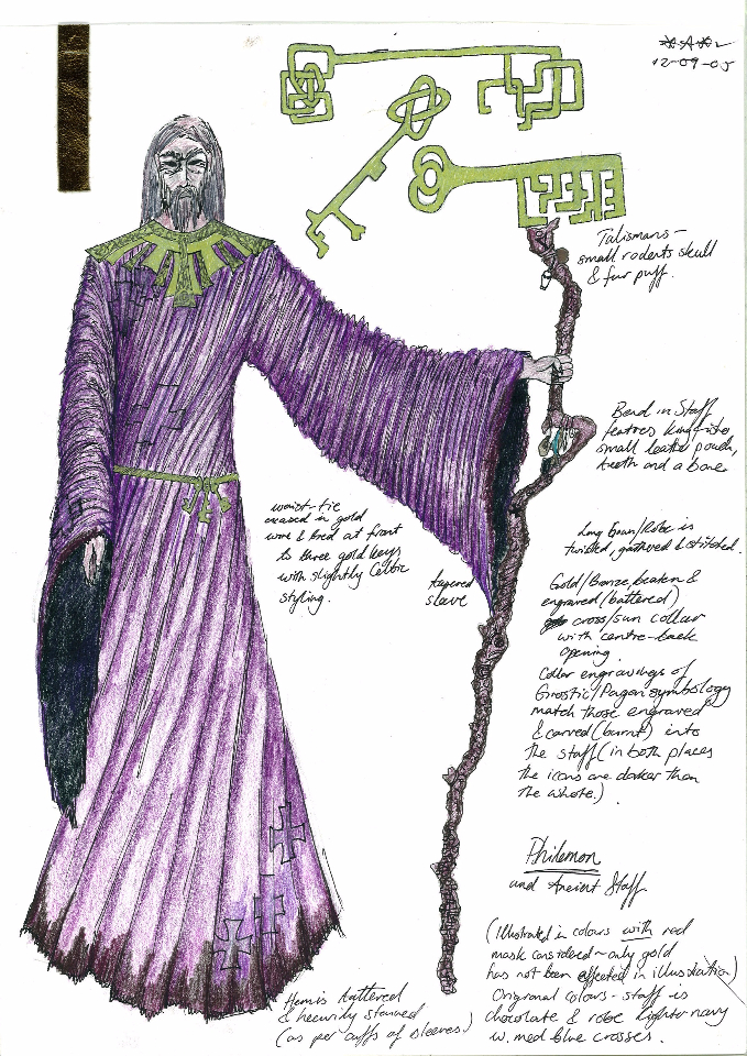 Costume Design Illustration - Philemon the Spirit Guide