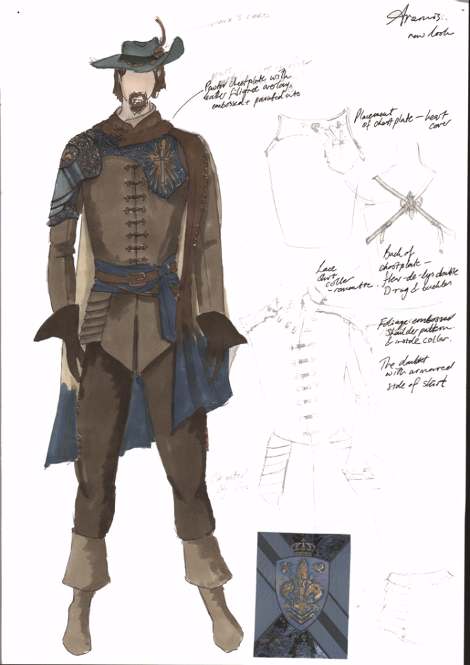 Costume Design Illustration for Aramis new look, series 3
