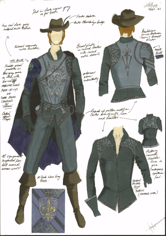Costume Design Illustration for 'Athos' new look
