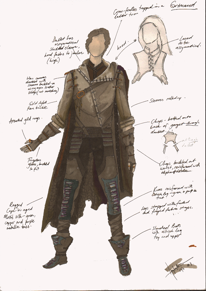 Costume Design Illustration for Grimaud