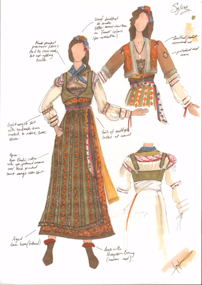 Costume Design Illustration  for Sylvie