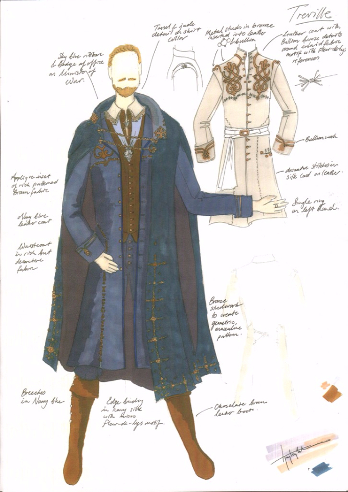 Minister Treville - Costume Design Illustration