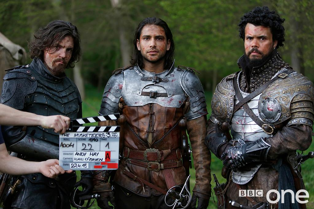 Tom Burke, Luca Pasqualino and Howard Charles